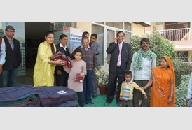 Manglam Charitable Trust Distributed Winterwear on New Year 1