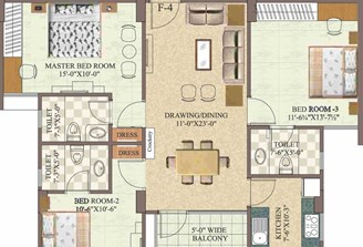 3 Bhk Flat in Pamposh Jawahar Circle,Jaipur