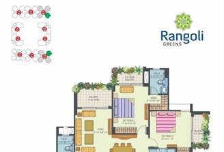 3 Bhk Flat in Rangoli Greens Vaishali Nagar,Jaipur