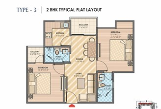 2 Bhk Flat in Sky Lounges Mansarovar Ext.,Jaipur