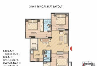 3 Bhk Flat in Sky Lounges Mansarovar Ext.,Jaipur