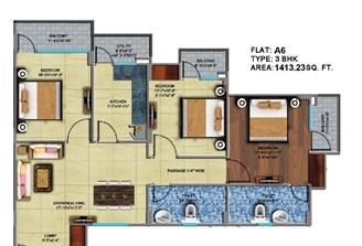 3 Bhk Flat in Square Arcade Jaisinghpura,Jaipur